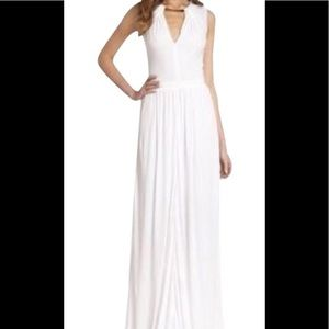 Issa Grecian silk lined gown with gold collar